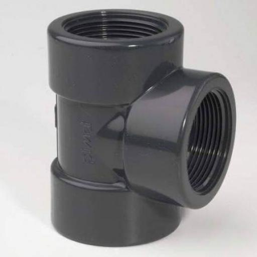 PVC-U Tee 90° BSP Threaded