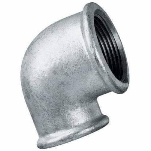 Galvanised Malleable Iron 90° Reducing Elbow Female x Female