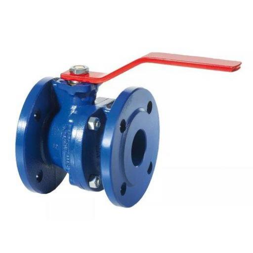 Ductile Iron Ball Valve FKM Seal Red Handle