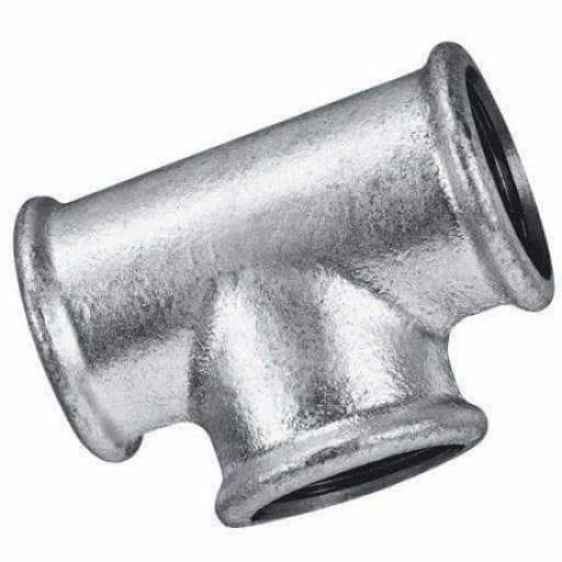 Galvanised Malleable Iron Equal Tee