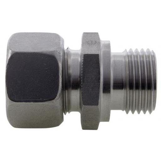 SS DIN2535 Compression BSPP Male Stud Coupling Light Series