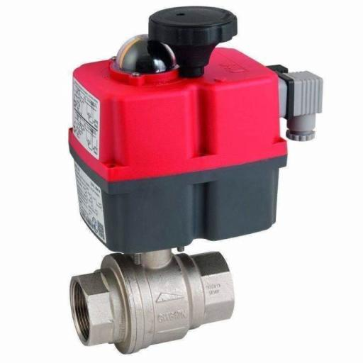 Actuated Brass WRAS Approved Full Bore Ball Valve fitted with J+J J4CS Actuator