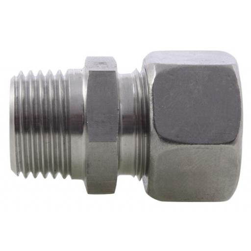 SS DIN2535 Compression NPT Male Stud Coupling Light Series