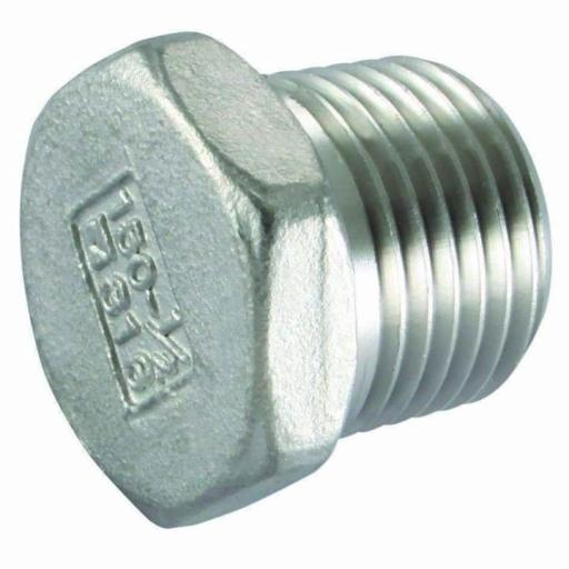 150lb Stainless Steel Hollow Hexagon Plug Male