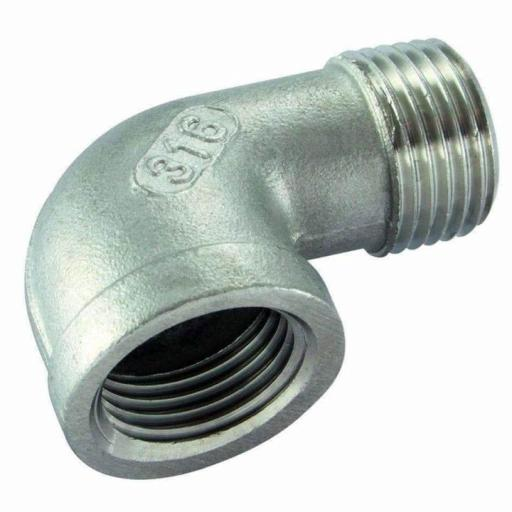 150lb Stainless Steel 90° Street Elbow