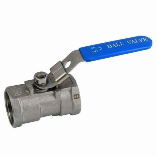 1 Piece Reduced Bore Stainless Steel Ball Valve