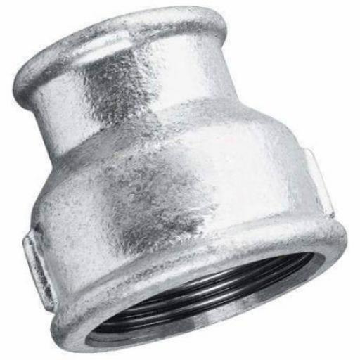 Galvanised Malleable Iron Reducing Socket Female x Female